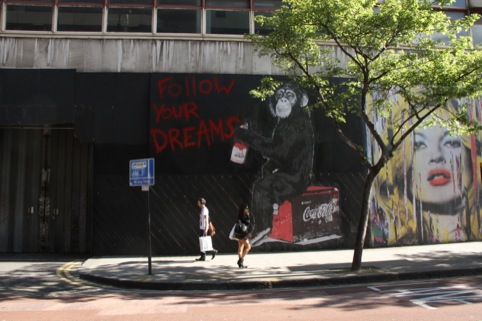 Follow Your Dream by Mr Brainwash at The Old Sorting Office