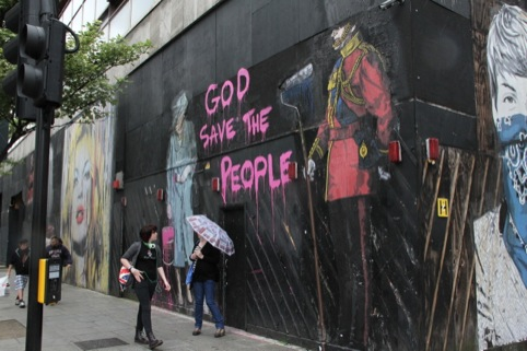 God Save Your People by Mr Brainwash at The Old Sorting Office