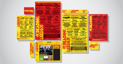 Reading and Leeds festival identity templates
