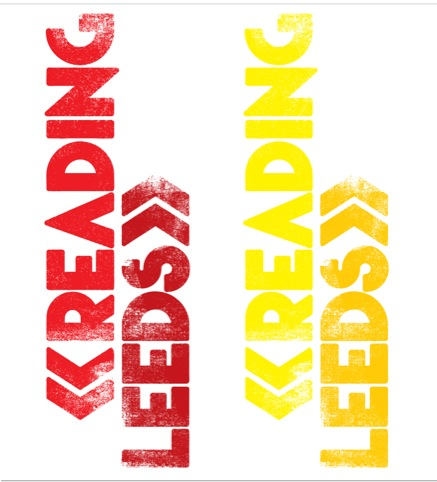 Reading and Leeds festival identity