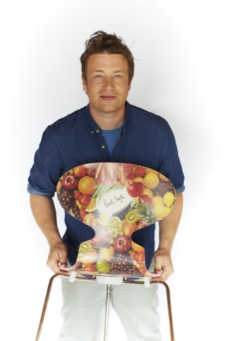 Jamie Oliver with the Paul Smith chair