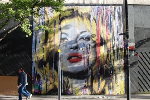 Kate Moss by Mr Brainwash at The Old Sorting Office