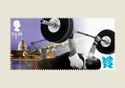 Paralympics Stampcards Weightlifting
