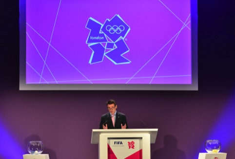 Lord Coe with the London 2012 Olympic identity