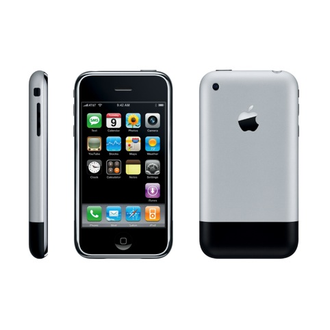 The Apple iPhone from 2008, by Apple's design studio