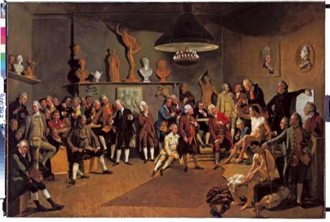 Zoffany, The Portraits of the Academicians