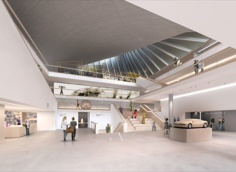 An impression of the new museum designed by John Pawson