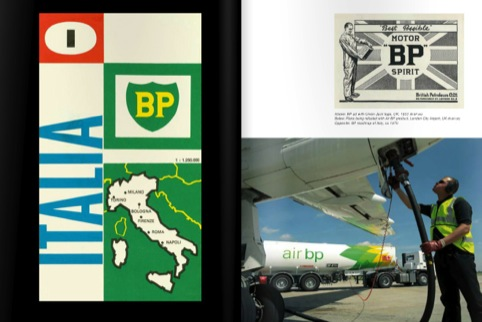 The BP logo in use