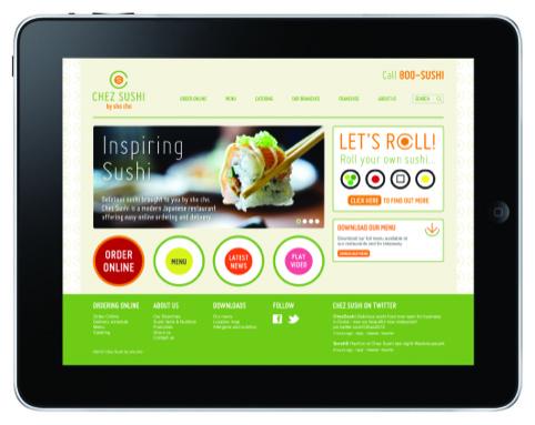 Chez Sushi website