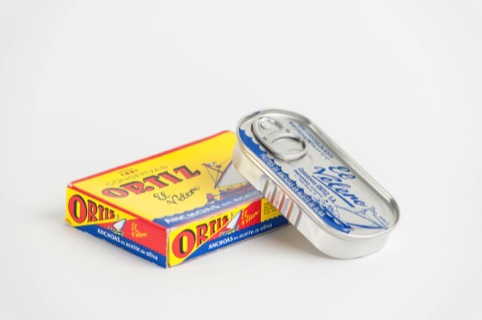A tin of anchovies, as chosen by Terence Conran