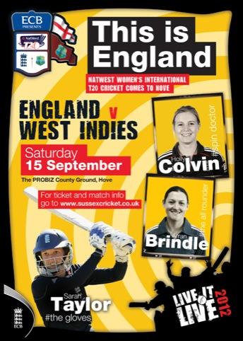 Women's Cricket Poster