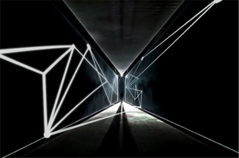 The 100 Design entrance tunnel