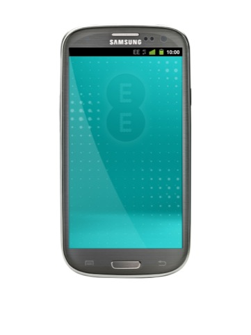 EE branding shown on Samsung Galaxy S III LTE device