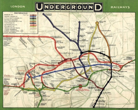 1908 London Tube Map