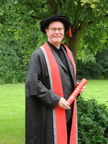 Vaughan Oliver receiving his honorary Masters degree from UCA in 2011
