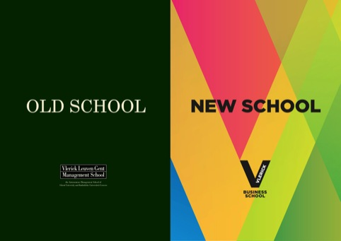 Old and new branding