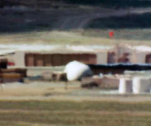 Large Hangars and Fuel Storage; Tonopah Test Range, NV; Distance approx 18 miles; 10:44am, 2005 C-Print Trevor Paglen