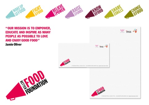 Better Food Foundation branding applications