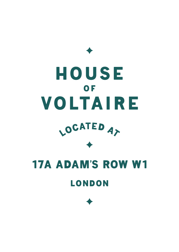 APFEL's graphic identity for this year's House of Voltaire