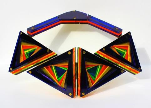 Lili Colley, Blue Deco LEDs Neck Piece, 2012