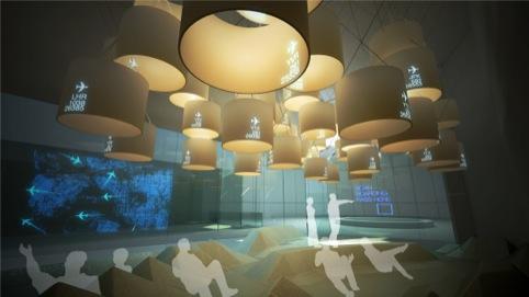 The New Media Lounge by Jason Bruges Studio
