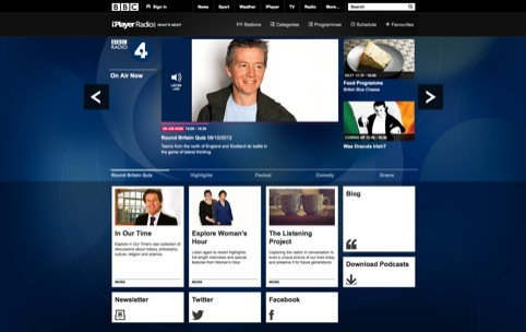 BBC Radio 4 homepage