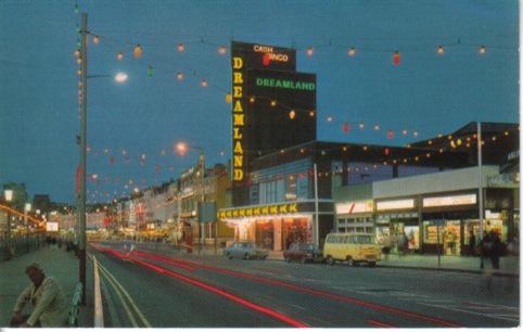 1980s colour postcard of Dreamland Cinema