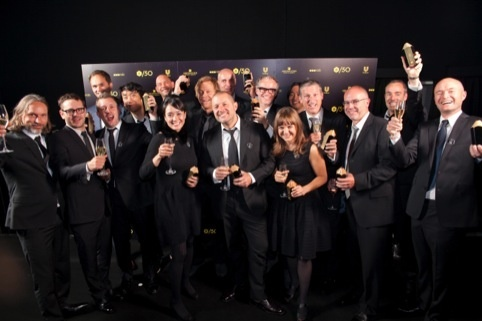 Jonathan Ive and the Apple design team at the DAD Awards