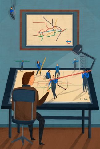 Harry Beck Redesigns the Tube Map, by David Biskup