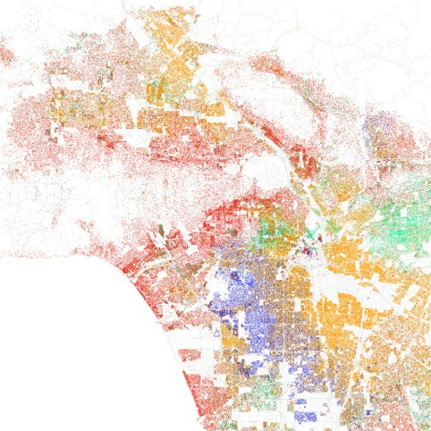 Racial make-up of Los Angeles