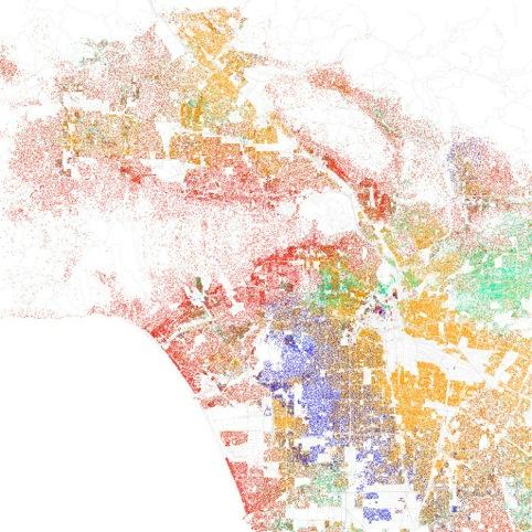 Racial make-up of Los Angeles