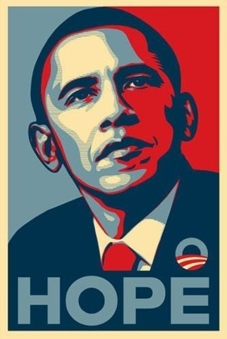 Shephard Fairey's Hope poster