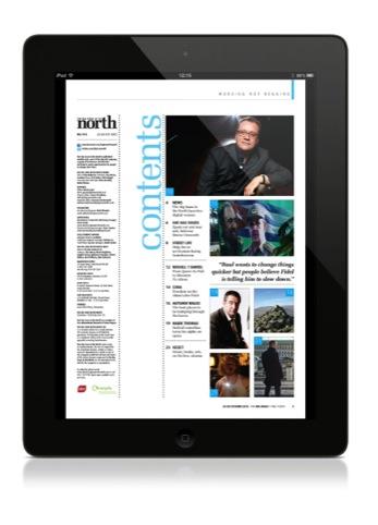 The digital edition on an iPad