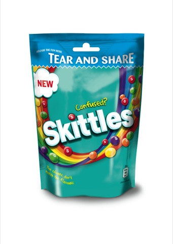 The Skittles Confused 175g sharing pouch