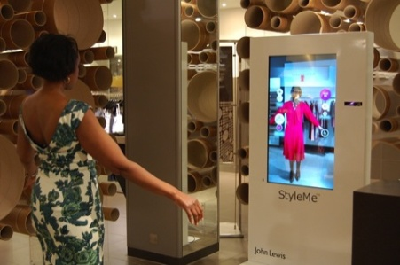 Virtual fashion mirror at John Lewis's Oxford Street store