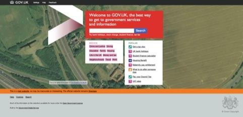 The gov.uk website