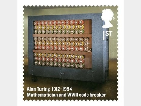 The Alan Turing stamp for the Britons of Distinction series