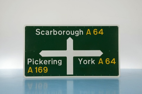 Road Sign designed by Jock Kinneir and Margaret Calvert