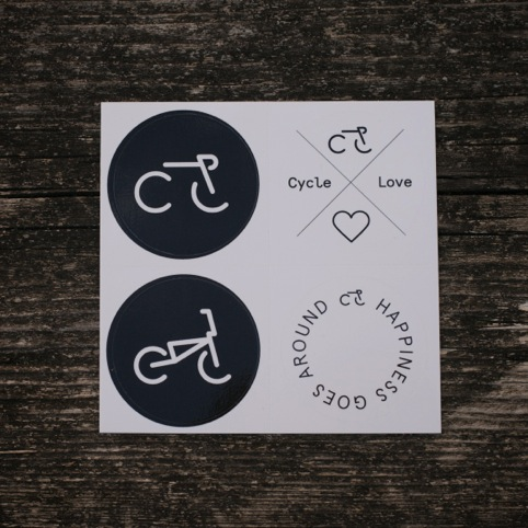 Cycle Love stickers