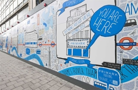 Hoarding for Primark's new store