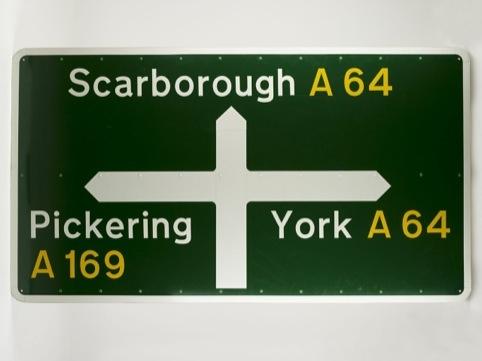 Motorway signage, by Margaret Calvert and Jock Kinneir