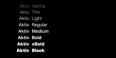 New Aktiv Grotesk weights, developed for the identity