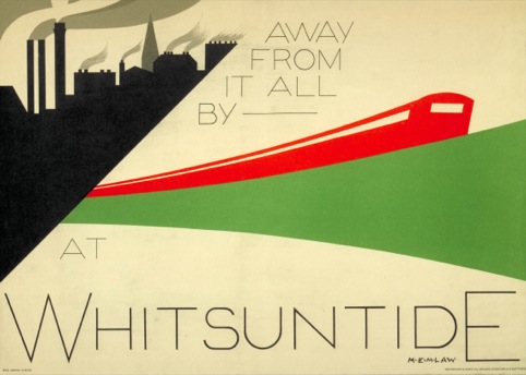 Away from it all by Underground at Whitsuntide, by M E M Law, 1932