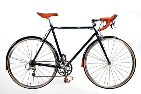 Bike with leather accessories