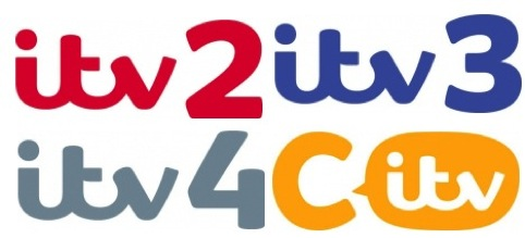 Logos for ITV2, ITV3, ITV4 and CITV