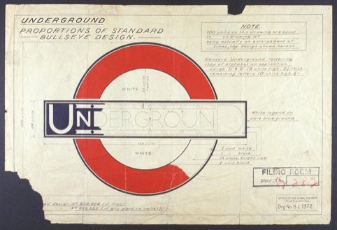 The Underground roundel designed by Johnston