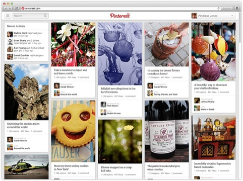 The new Pinterest feed