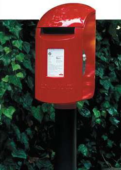 Royal Mail pillar box, 1996, by Sir Kenneth Grange