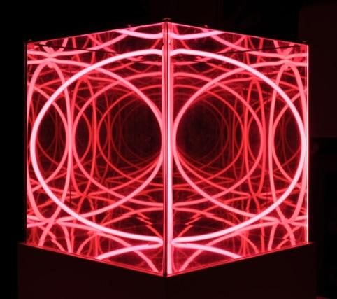 Art Giro P.Scirpa, Cubo Multispaziale Porpora, 1987