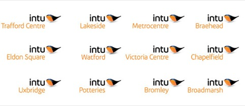 Intu logo as used on individual shopping centres
